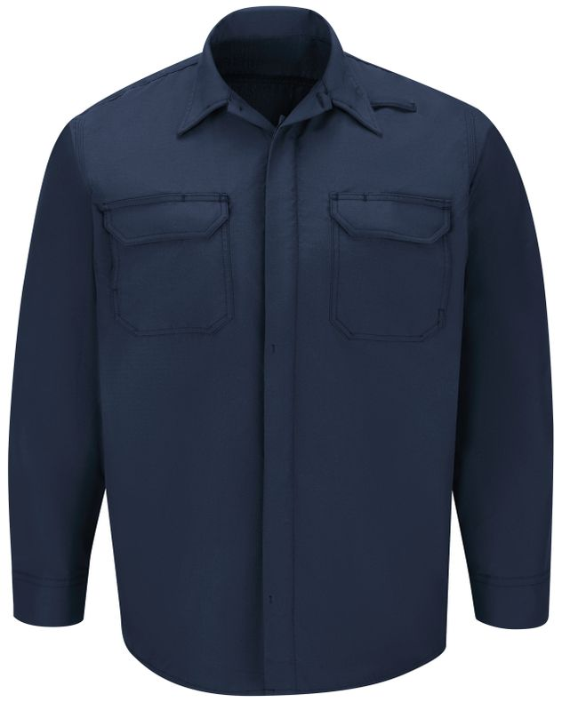 Workrite FR Shirt Jacket FST2, Ripstop, Tactical Navy Front