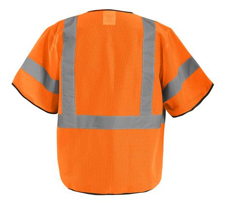 Occunomix ECO-GCZ3 Mesh Standard Vest With Zipper Back Orange