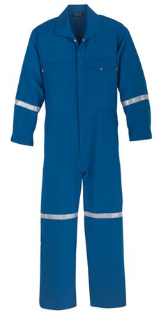 Workrite 4.5 oz Nomex IIIA Industrial Coverall with Reflective Tape 114NX45