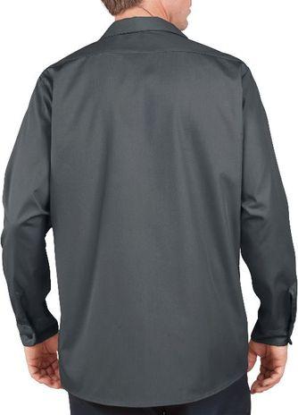 Dickies Men's Shirts - Long Sleeve Industrial Work Shirt LL535 - Charcoal