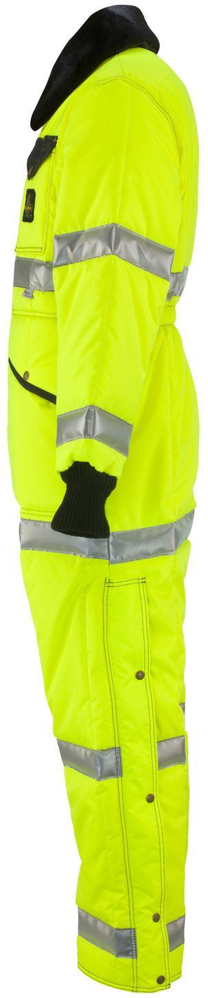 RefrigiWear 0344L2 Hivis Iron-Tuff Coverall Lime Left