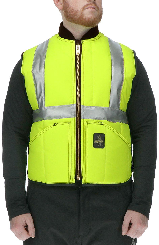 RefrigiWear 0399L2 HiVis Iron-Tuff Vest Lime Example