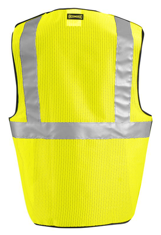 Occunomix OccuLux Cool Mesh, High Visibility, and Break Away Vest LUX-SSBRPC Back