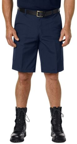 Workrite FR Cargo Shorts FP42, Classic 12-Inch Navy Example Front