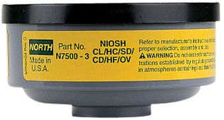 North Safety N75003L Organic Vapor & Acid Gas Cartridges for Respirators