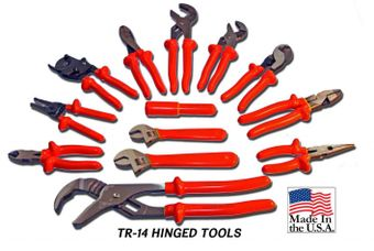Cementex TR-14 Insulated Hinged Tools Roll, 14PC