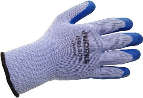 4Works HB1301 Blue Latex Coated Glove - Back View