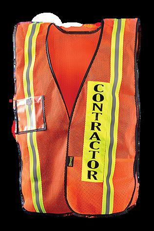 Occunomix LUX-XCON Hi-Viz Mesh Contractor Vest Front