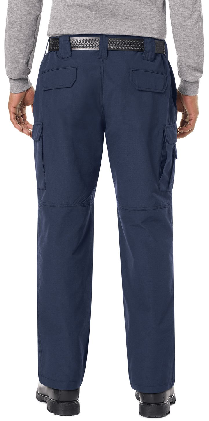 Bulwark FR Workrite Tactical Ripstop Pants FP40 Navy Example Back