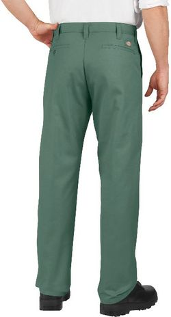 Dickies Men's Pants - Industrial Flat Front Pant LP812 - Dow Spruce