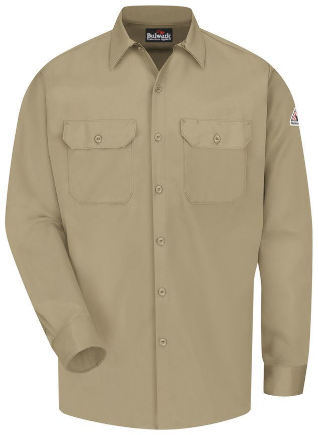 bulwark-fr-work-shirt-slw2-midweight-excel-comfortouch-khaki-front.jpg