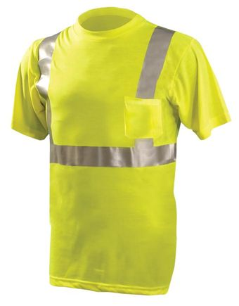 Occunomix Economy T-Shirt LUX-SSETP2 - High Vis Lightweight Front Yellow