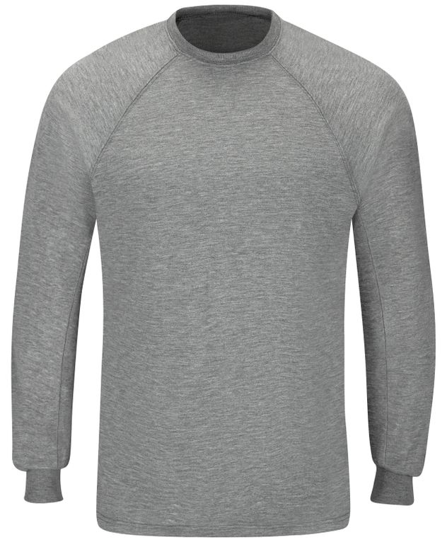 Workrite FR Long Sleeve FT40, Station Wear Tee, Athletic Style Heather Grey Front