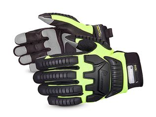 Superior MXVSB Anti Impact PVC Palm Patches Adjustable Velcro Cuffs Clutch Gear Anti Impact Mechanics Deluxe Gloves