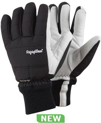 RefrigiWear Cold Weather Apparel - Nylon and Goatskin Gloves 0243
