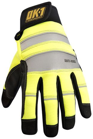 Occunomix OK-CCG450 CoolCore® HiViz Anti-Vibe Gloves w/D3O Top