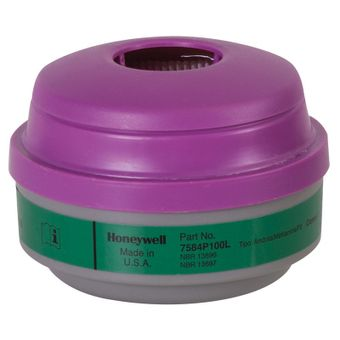 Honeywell North Safety 7584P100L Ammonia And Methylamine Cartridges With P100 Filters N Series