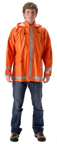 nasco arclite fire resistant orange rain jacket