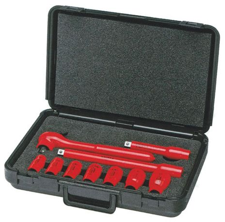 Knipex Tools Inch-Sized Electrical Insulated Socket Wrench Tool Kit 98 99 11 S5