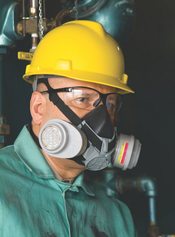 MSA Advantage Half Mask Respirator 420 Example