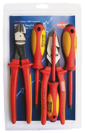 Knipex Tools Insulated Pliers and Screwdriver Tool Kit 9K 98 98 22 US