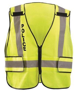Occunomix LUX-PSP-DOR Mesh Public Safety Break-Away Vest w/DOR, Police Front
