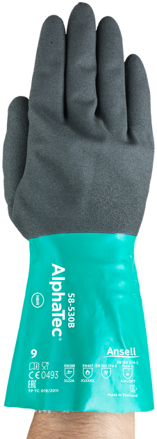 Ansell AlphaTec Supported Nitrile Gloves 58-530B Front