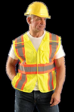 Occunomix LUX-SC2TB Hi-Viz Mesh Two-Tone Expandable Break Away Vest