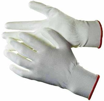 polyurethane palm coated gloves white hq1201