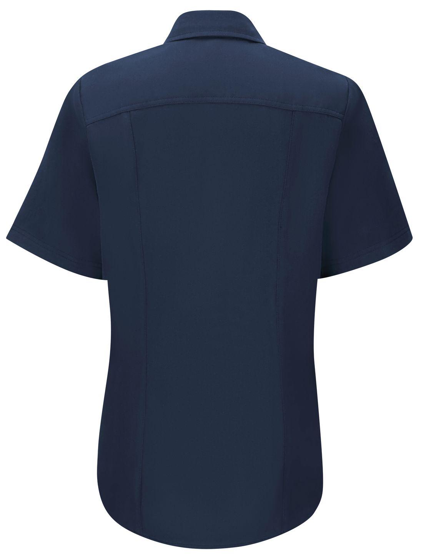 Workrite FR Women's Shirt FSM3, Station No. 73, Uniform Navy Back