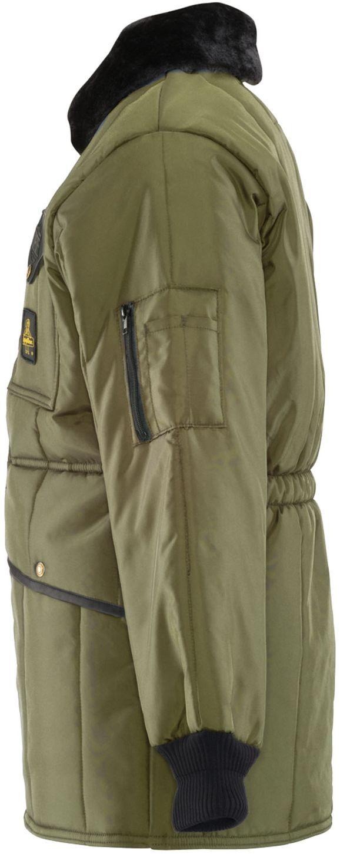 RefrigiWear 0342 Iron-Tuff Jackoat Cold  Weather Work Coat Sage Left Side