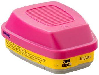 3M 60928 Organic Vapor/Acid Gas Cartridges with P100 Filter