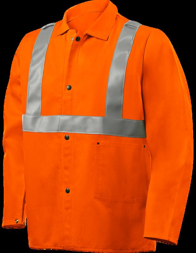 """Steiner Weldlite Flame Retardant Jacket Cotton 30"""" 1040RS Front"""
