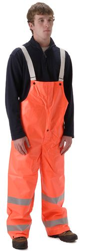 nasco workchoice orange hi viz waterproof rain bib