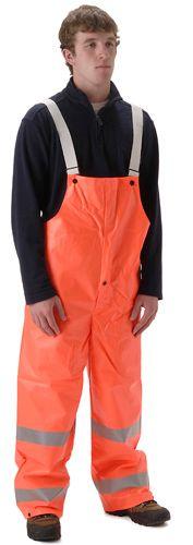 nasco workchoice orange hi viz waterproof rain bib