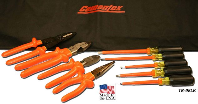 Cementex TR-9ELK Insulated Basic Electrician Tool Roll, 9PC