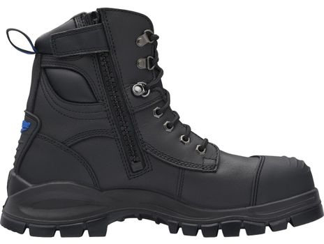"""Blundstone 997 XFOOT Rubber Ankle Lace-Up Steel Toe Boots - 6"""", Water Resistant Side"""