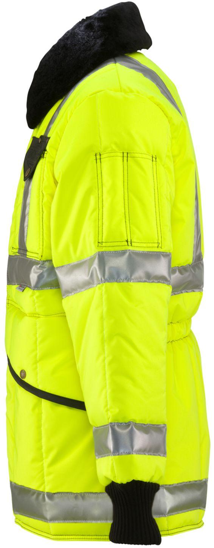 RefrigiWear 0342L2 HiVis Iron-Tuff Jackoat Lime Left