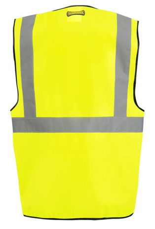 Occunomix Classic Solid Economy Hi Vis Safety Vest LUX-SSG Yellow Back