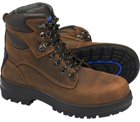 """Blundstone 143 XFOOT Lace-Up Steel Toe Safety Boots - 6"""", Water Resistant"""