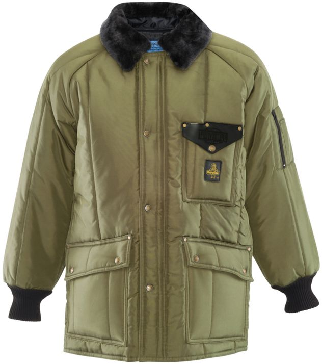 RefrigiWear 0358 Iron-Tuff Siberian Winter Work Coat Sage Front