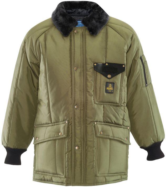 RefrigiWear 0358 Iron-Tuff Siberian Winter Work Coat Sage Front