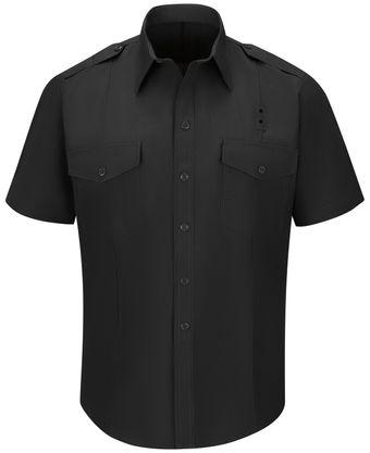 Workrite FR Fire Chief Shirt FSC2 Classic Short Sleeve Black Front