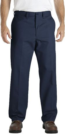 Dickies Men's Pants - Industrial Flat Front Comfort Waist Pant LP817 - Navy