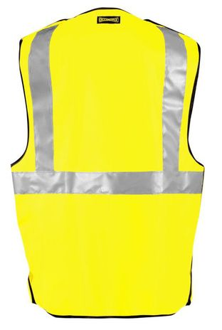 Occunomix LUX-SSBRPFR Hi-Viz Premium Flame Resistant 5-PT Break-Away Solid Vest Back