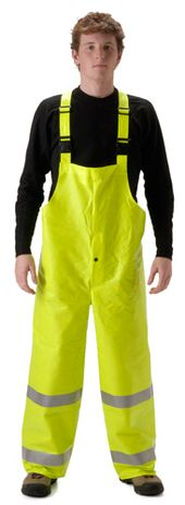nasco arclite hi vis arc flash yellow rain bib