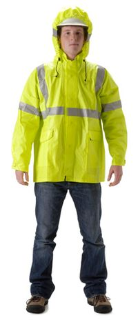 nasco arclite hi vis yellow fr arc flash rain jacket