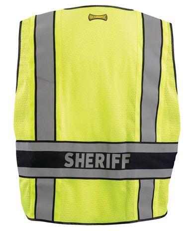Occunomix LUX-DPSS-DOR Deluxe Solid/Mesh Break-Away Public Safety Vest w/DOR, Sheriff Back