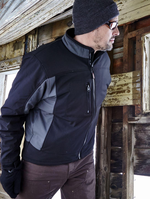 RefrigiWear 0490 Softshell Insulated Work Jacket Black Example