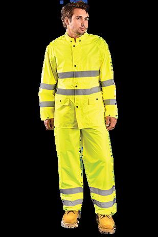 Occunomix LUX-TRJKT Breathable High Visibility Rain Jacket, Class 3